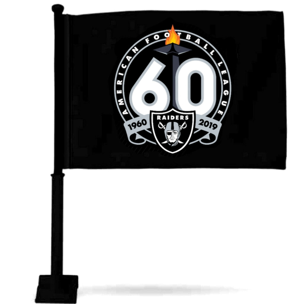 RAIDERS 60TH CAR FLAGS-RaiderNationStore