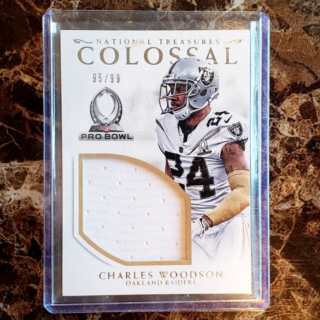 CHARLES WOODSON LAST GAME WORN JERSEY PATCH CARD