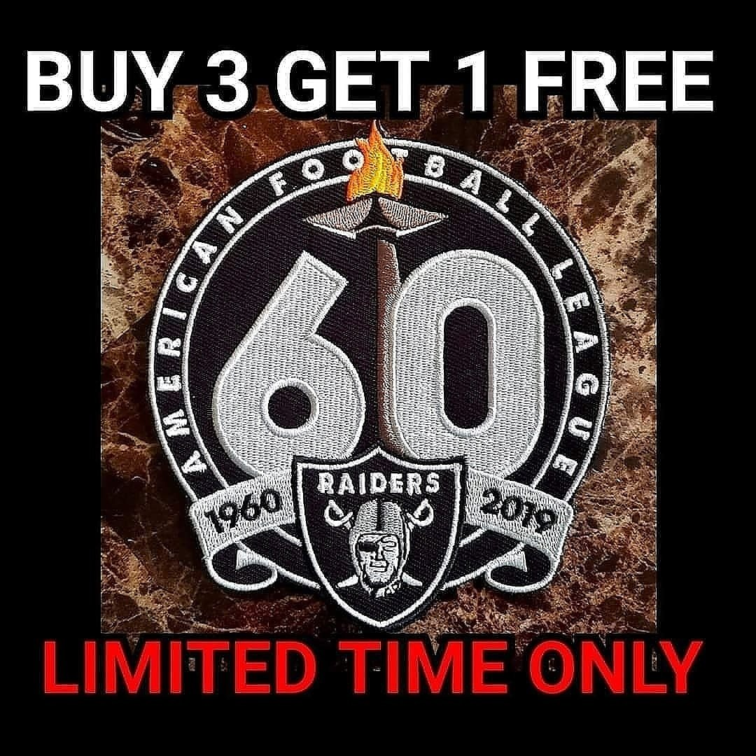 RAIDERS 60TH PATCH
