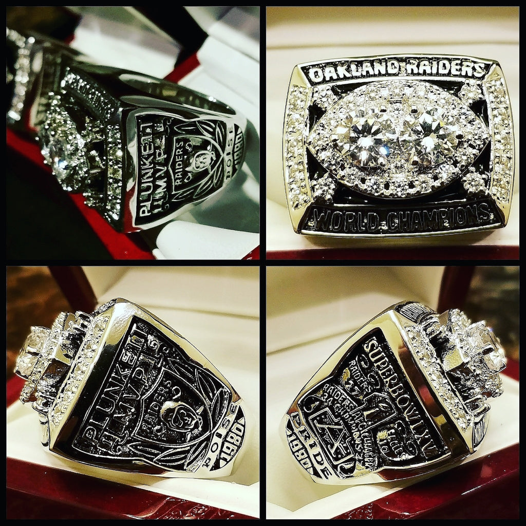 RAIDERS JIM PLUNKETT SB MVP RINGS