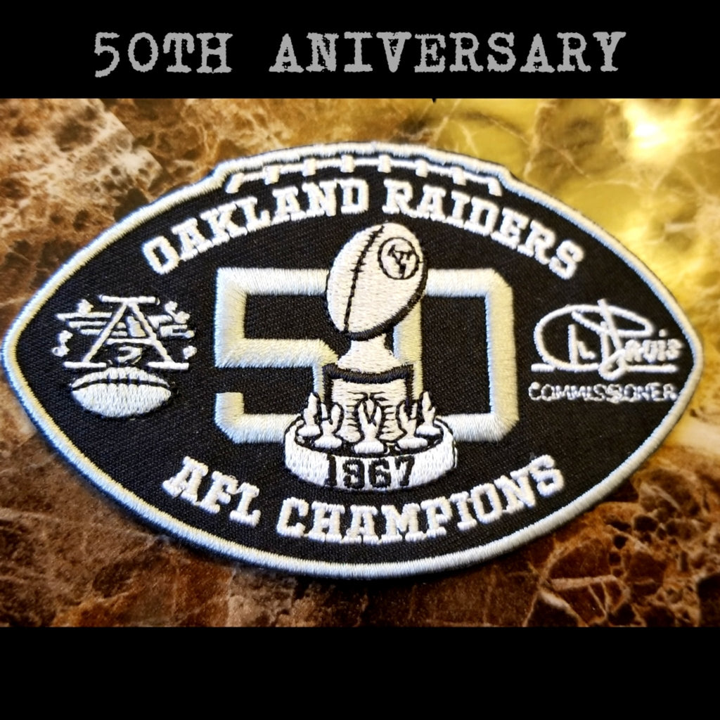 RAIDERS 50TH PATCH