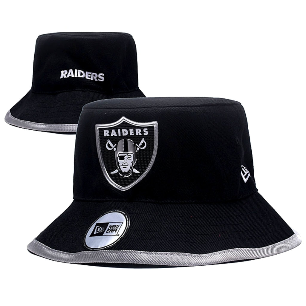RAIDERS  BLACK METALLIC SHIELD BUCKET HAT