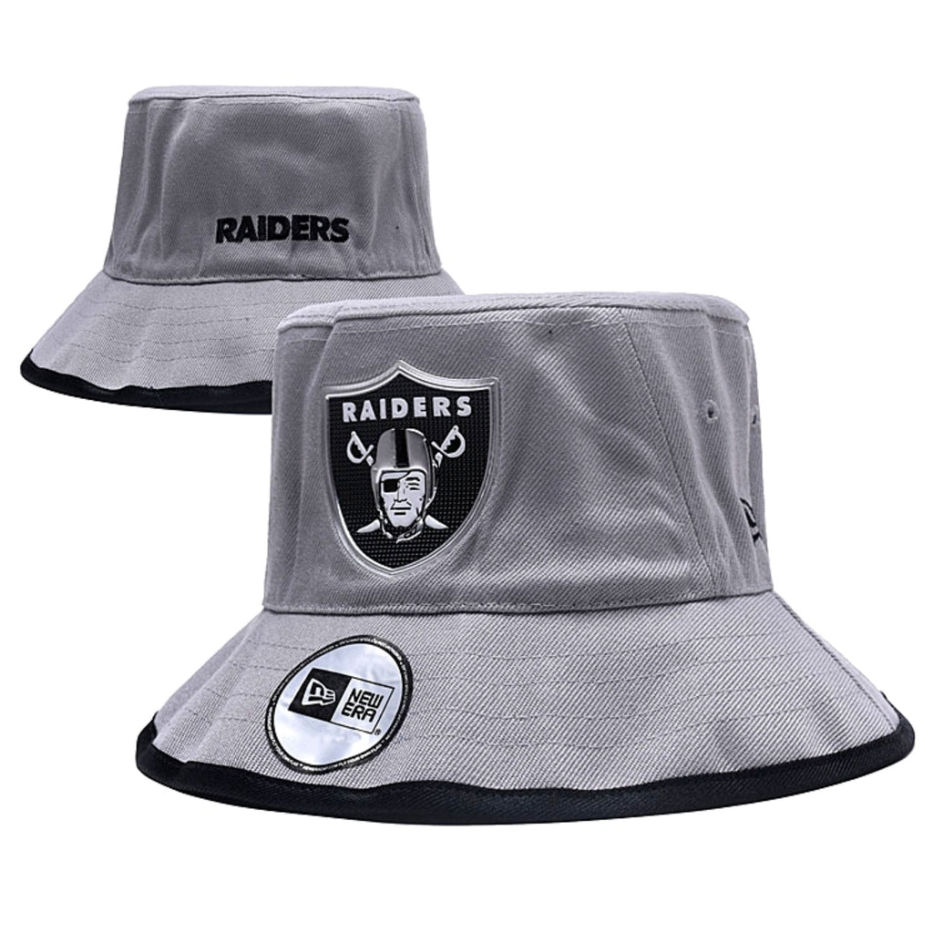 RAIDERS SILVER METALLIC SHIELD BUCKET HAT