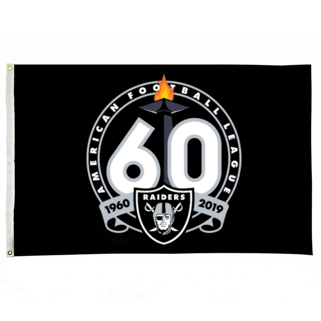 RAIDERS 60TH FLAG-RaiderNationStore