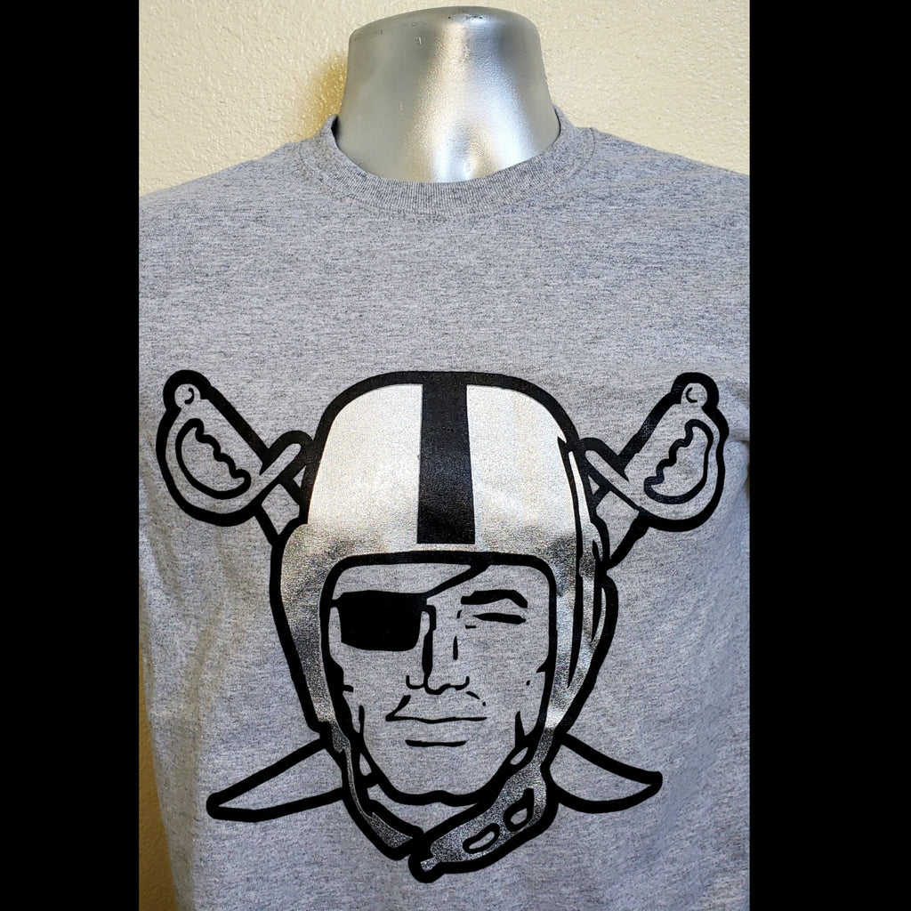 RAIDERS GREY SILVER PLATED SHIRT