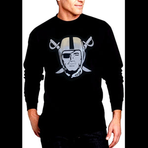 RAIDERS SILVER PIRATE LONG SLEEVE SHIRT