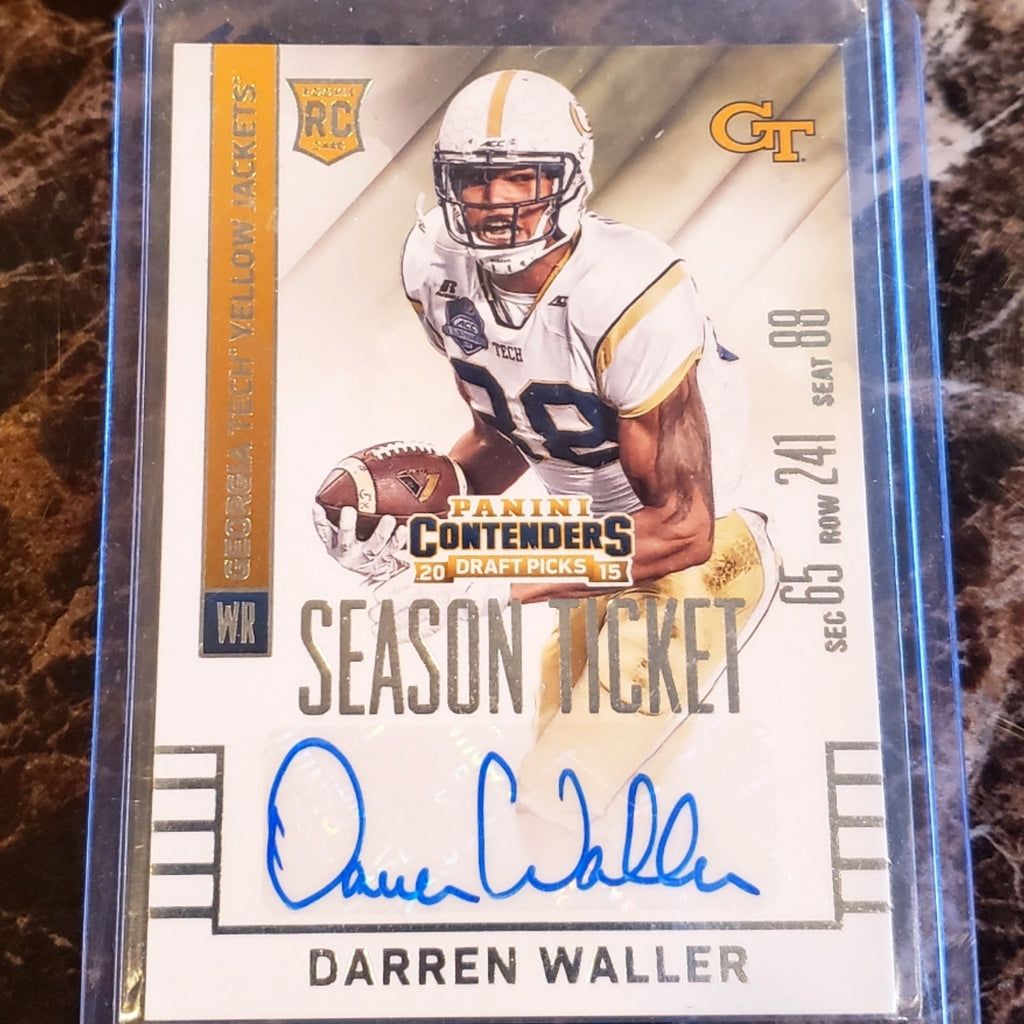 DARREN WALLER AUTOGRAPHED ROOKIE CARD-RaiderNationStore