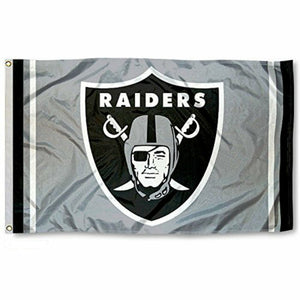 RAIDERS SILVER STRIPE FLAG