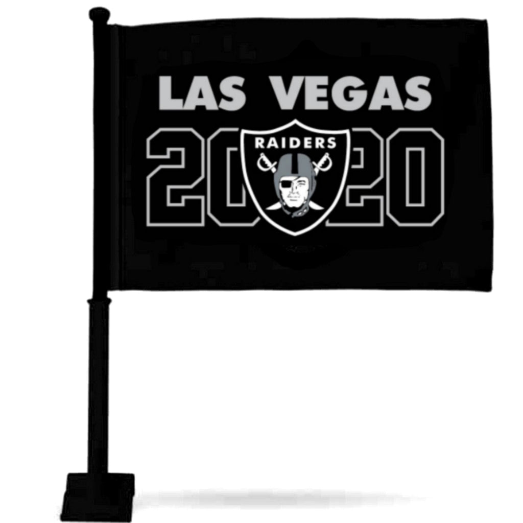 LAS VEGAS RAIDERS BLACK CAR FLAG
