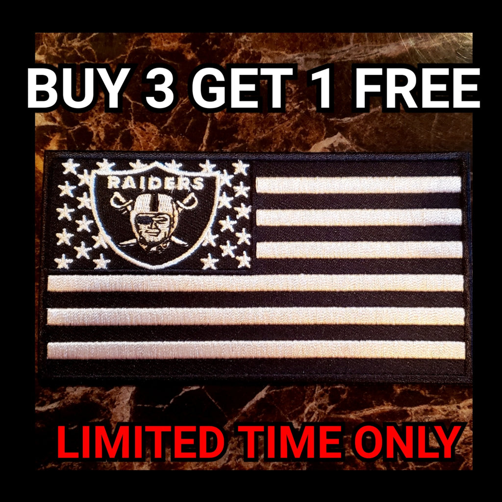 RAIDER NATION FLAG PATCH-RaiderNationStore
