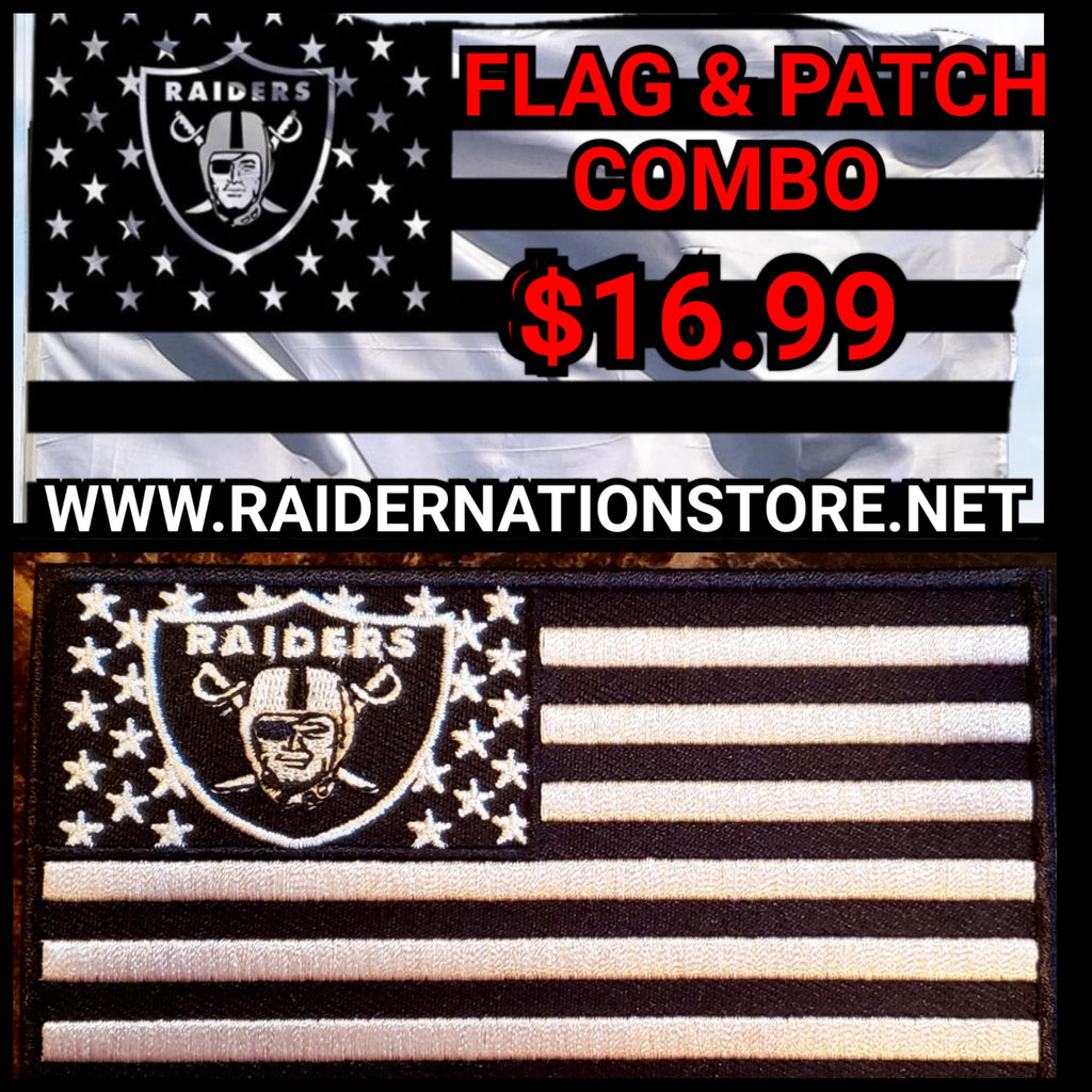 RAIDER NATION FLAG AND PATCH COMBO