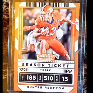 HUNTER RENFROW PANINI CONTENDERS ROOKIE CARD-RaiderNationStore