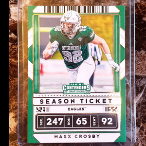 MAXX CROSBY PANINI CONTENDERS 2020 DRAFT PICKS ROOKIE CARD