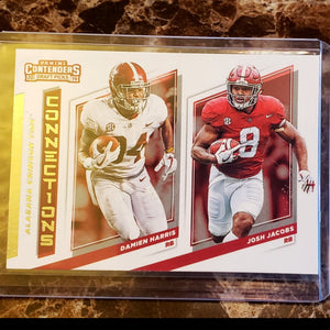 JOSH JACOBS DAMIEN HARRIS PANINI CONTENDERS 2019 DRAFT PICKS ROOKIE CARD
