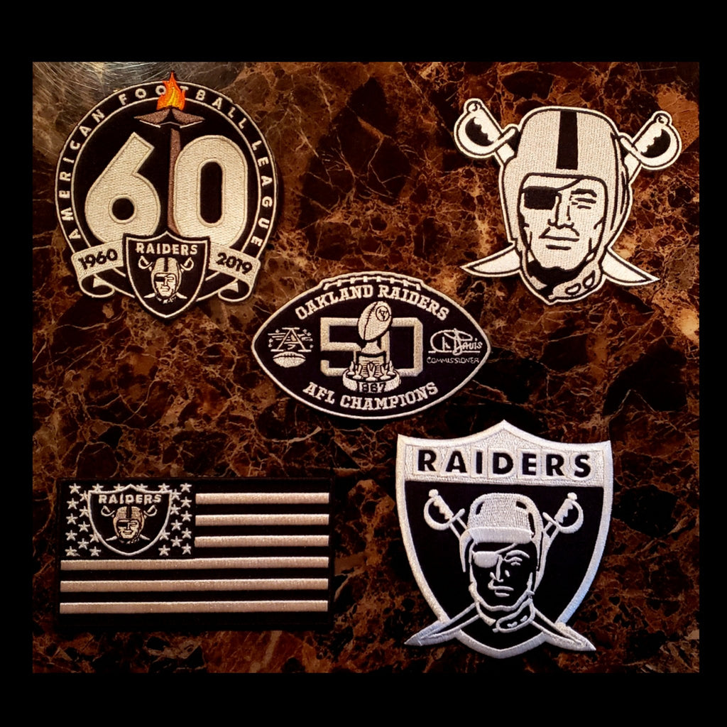 5 RAIDERS PATCH COMBO DEAL-RaiderNationStore