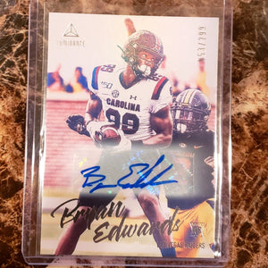 BRYAN EDWARDS LUMINANCE AUTOGRAPHED ROOKIE CARD