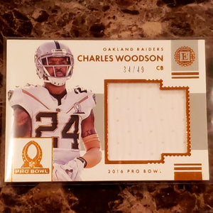 CHARLES WOODSON LAST GAME WORN JERSEY PATCH CARD-RaiderNationStore