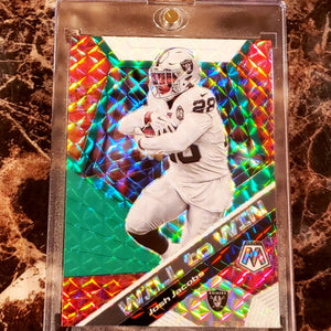JOSH JACOBS MOSAIC WILL TO WIN CARD-RaiderNationStore