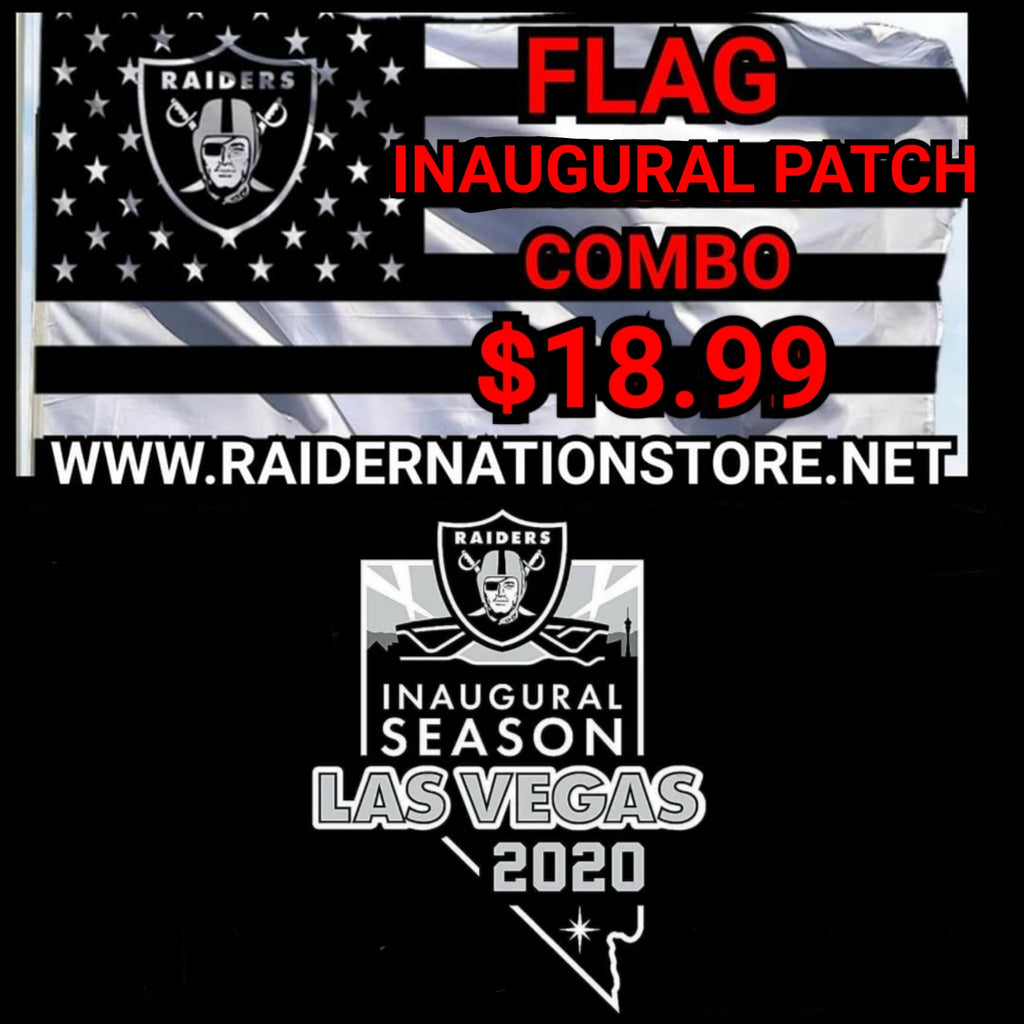 RAIDER FLAG AND INAUGURAL PATCH COMBO-RaiderNationStore