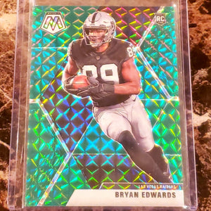 BRYAN EDWARDS GREEN MOSAIC ROOKIE CARD-RaiderNationStore