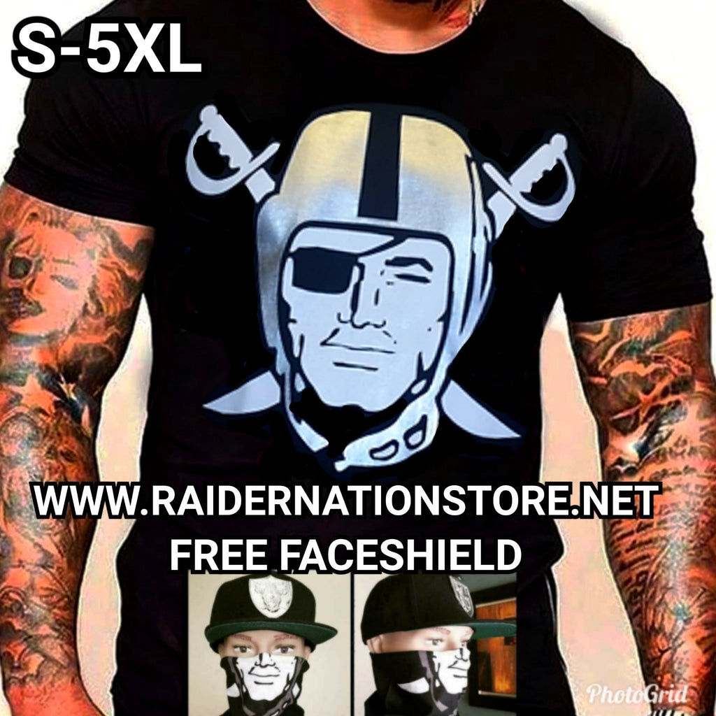 RAIDERS SILVER PLATED BLACK SHIRT