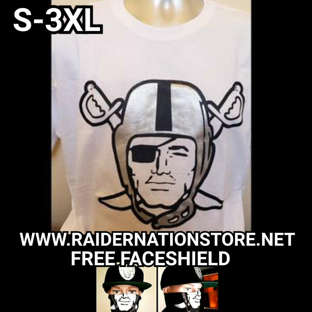RAIDERS SILVER PLATED WHITE SHIRT