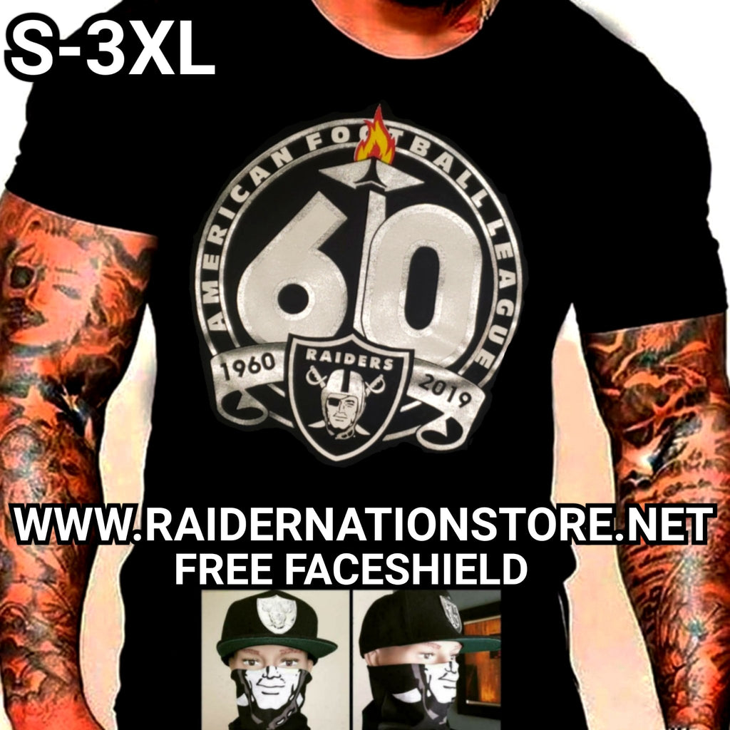 RAIDERS SILVER PLATED 60TH SHIRT