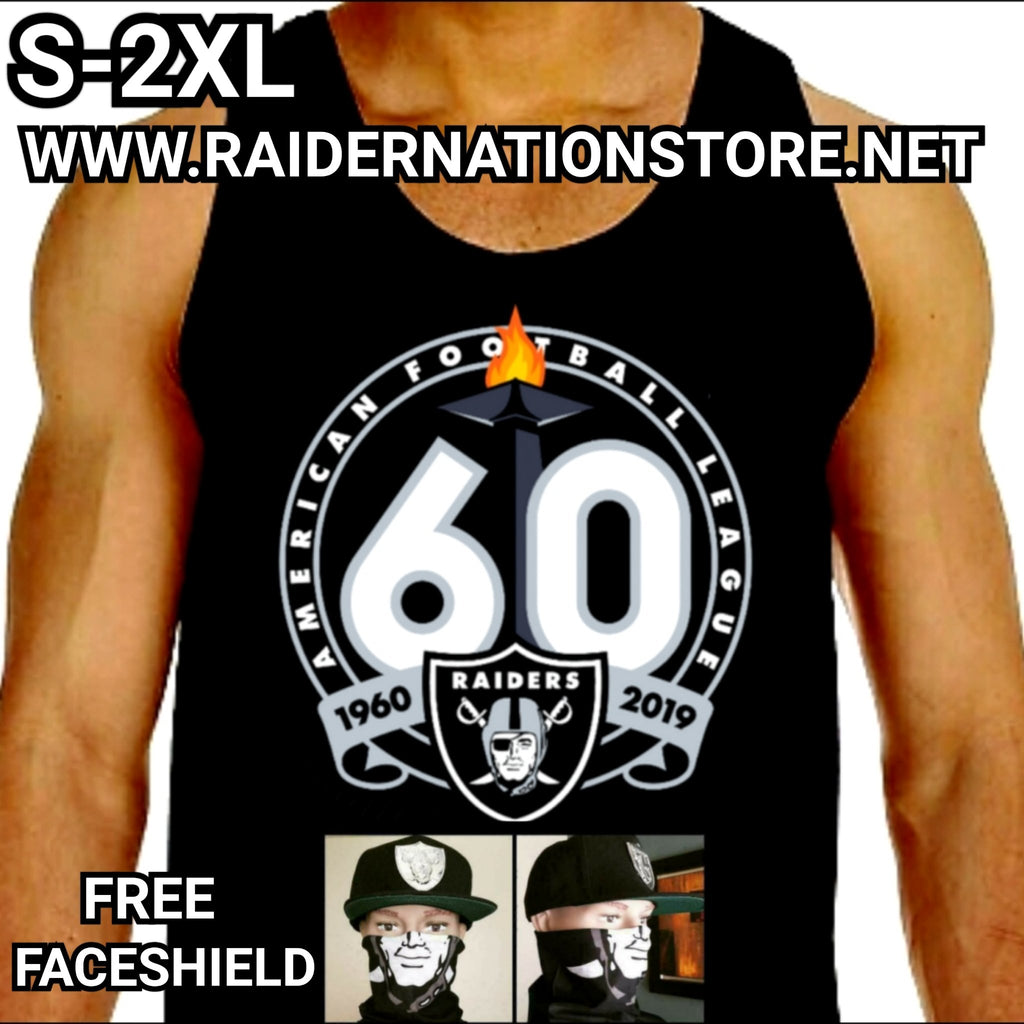 RAIDERS 60TH SILVER PLATED TANK TOP
