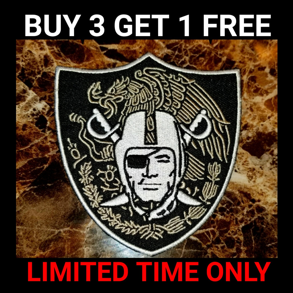 RAIDERS MEXICO SHIELD PATCH