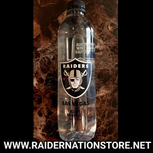 RAIDERS INAUGURAL 16 OZ FULL BOTTLED WATER