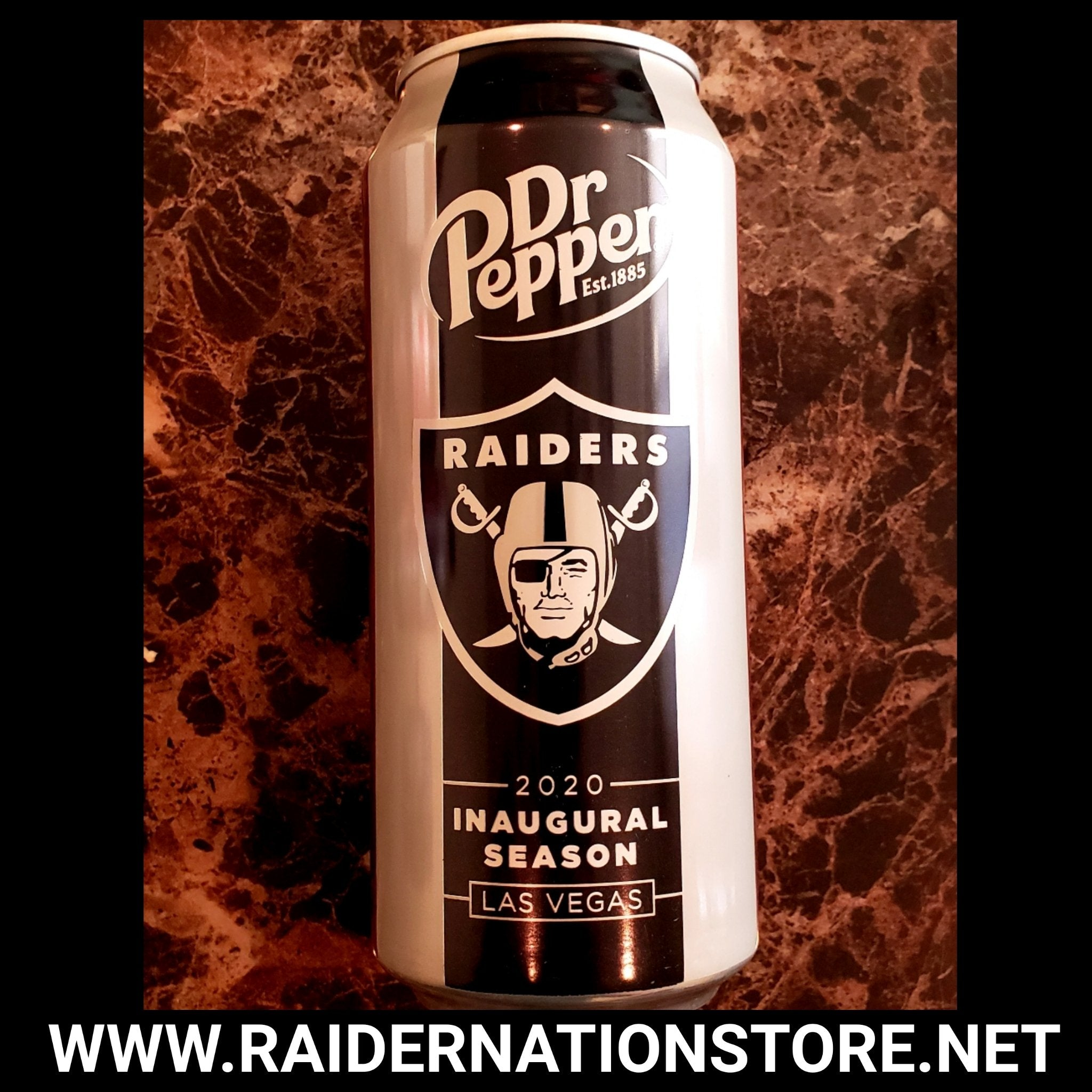 RAIDERS INAUGURAL DR PEPPER FULL CAN