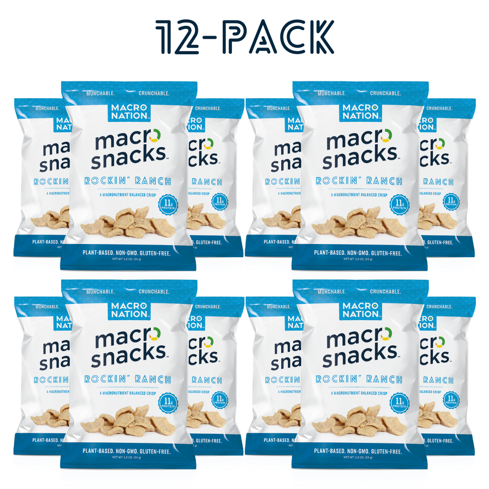 'Rockin' Ranch' Flavor Macro Snacks - 12 Pack - 1.2oz Bags