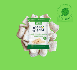 'Sour Cream & Onion' Flavor Macro Snacks - 12 Pack - 1.2oz Bags