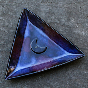 Triangle Moon Incense Dish