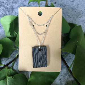 Bark Rectangle Necklace