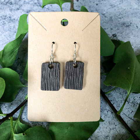Bark Rectangle Earrings