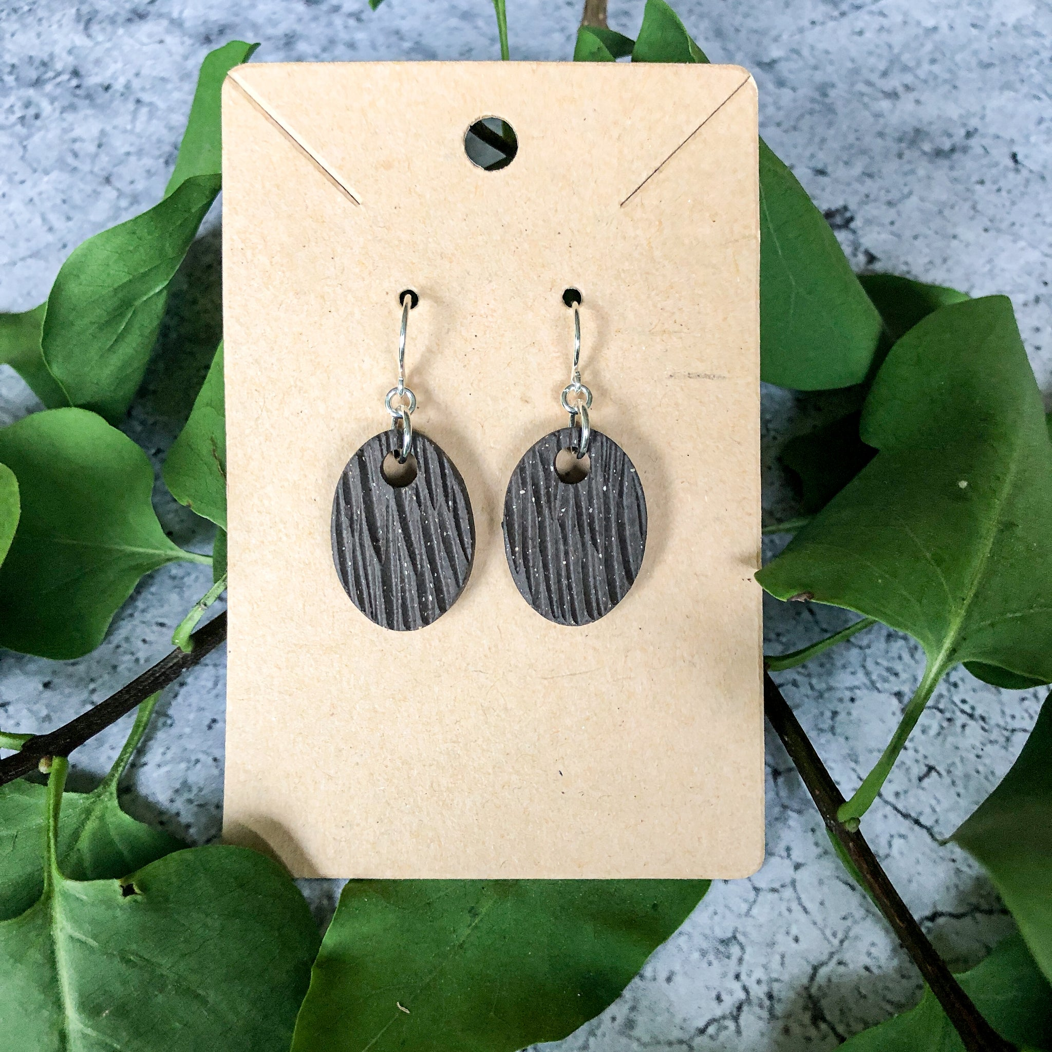 Bark oval Earrings