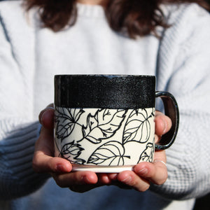 Midnight Leaves Mug