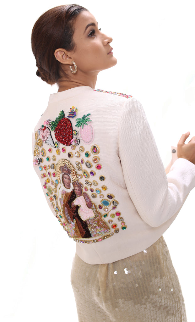 Cropped Embellished Jacket ''Mary and Baby''