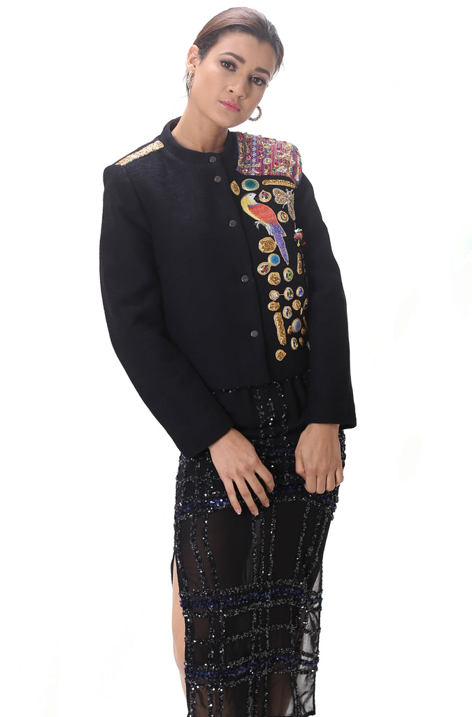Cropped Embellished Jacket ''Pappagallo''