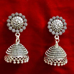 Oxidized Handmade Jhumka Earings For Women Simple Look