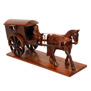 "Handmade Horse cart - 5.5"" x 14"" x 4"" inches"