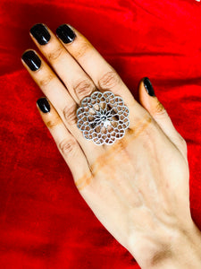 Oxidized Load Durga Rings With Adjustable For Girls