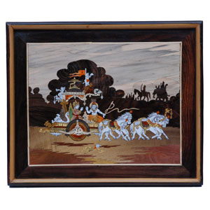 "Rosewood Geeta pane wall panel - size - 18"" x 25"" inches"