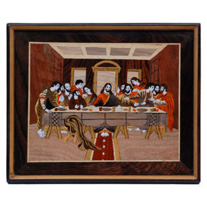 "Rosewood the Last Supper design wall panel - size 18"" x 24"" inches"