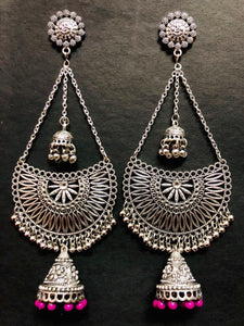 Oxidized Handmade Chandbali  Earing Best Price In India
