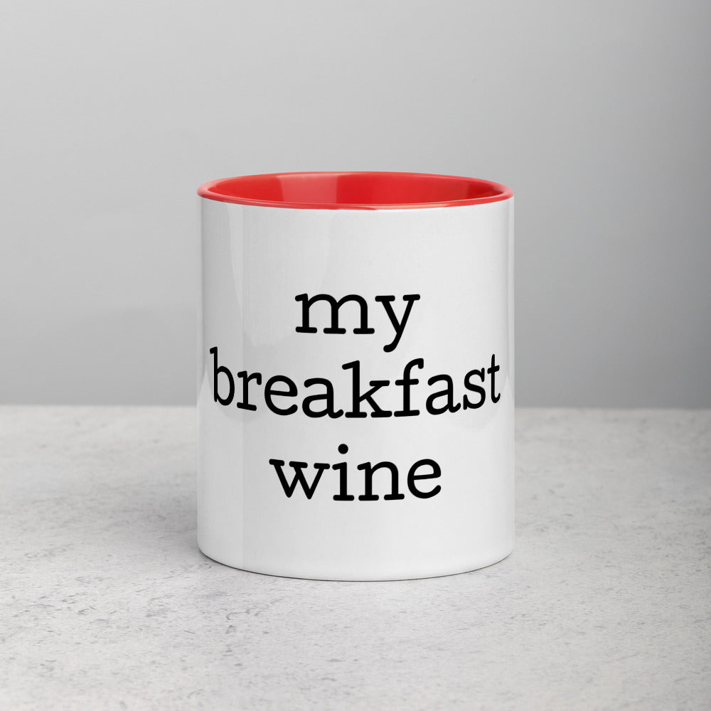 "Colored cup ""Wine breakfast"""