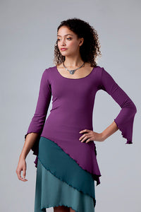 TRINITY TWIST 3/4 SLEEVE TOP