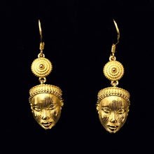 Olori mask earrings sterling silver base