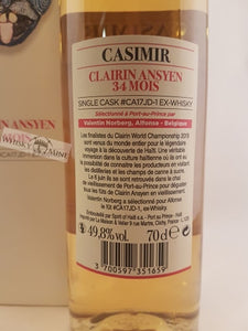 Casimir Clairin Ansyen 34mois, single cask #CA17JD-1
